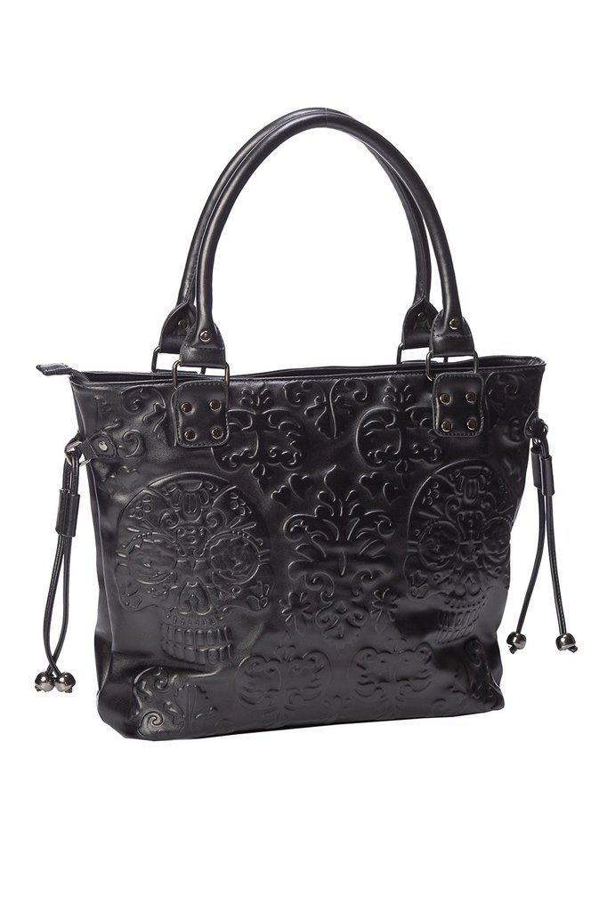 Musette Emboss Tote Bag-Banned-Dark Fashion Clothing