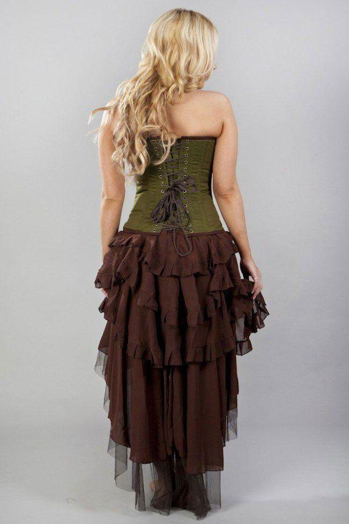 Ophelie Long Burlesque Skirt In Chiffon-Burleska-Dark Fashion Clothing