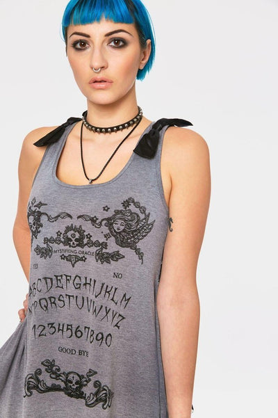 Ouiji Goth Vest Top-Jawbreaker-Dark Fashion Clothing
