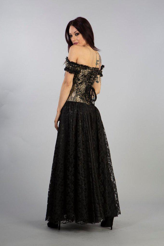 Paula Victorian Corset Dress In King brocade-Burleska-Dark Fashion Clothing