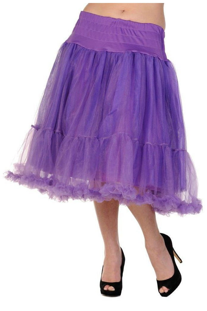 Petticoat Long Skirt-Banned-Dark Fashion Clothing