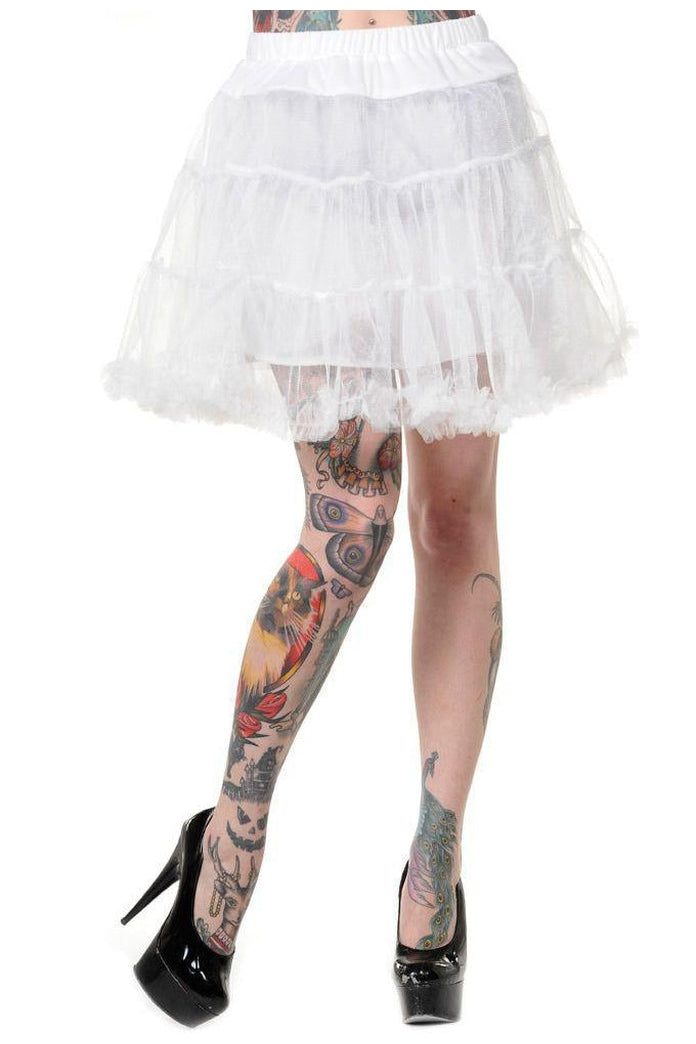 Petticoat Mini Skirt-Banned-Dark Fashion Clothing