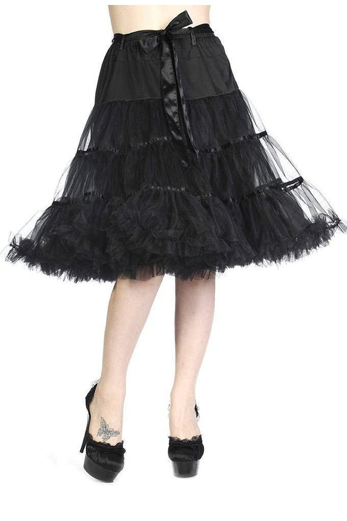 Petticoat Ribbon Skirt-Banned-Dark Fashion Clothing