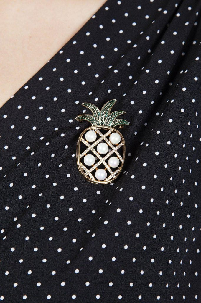 Pineapple Brooch-Voodoo Vixen-Dark Fashion Clothing