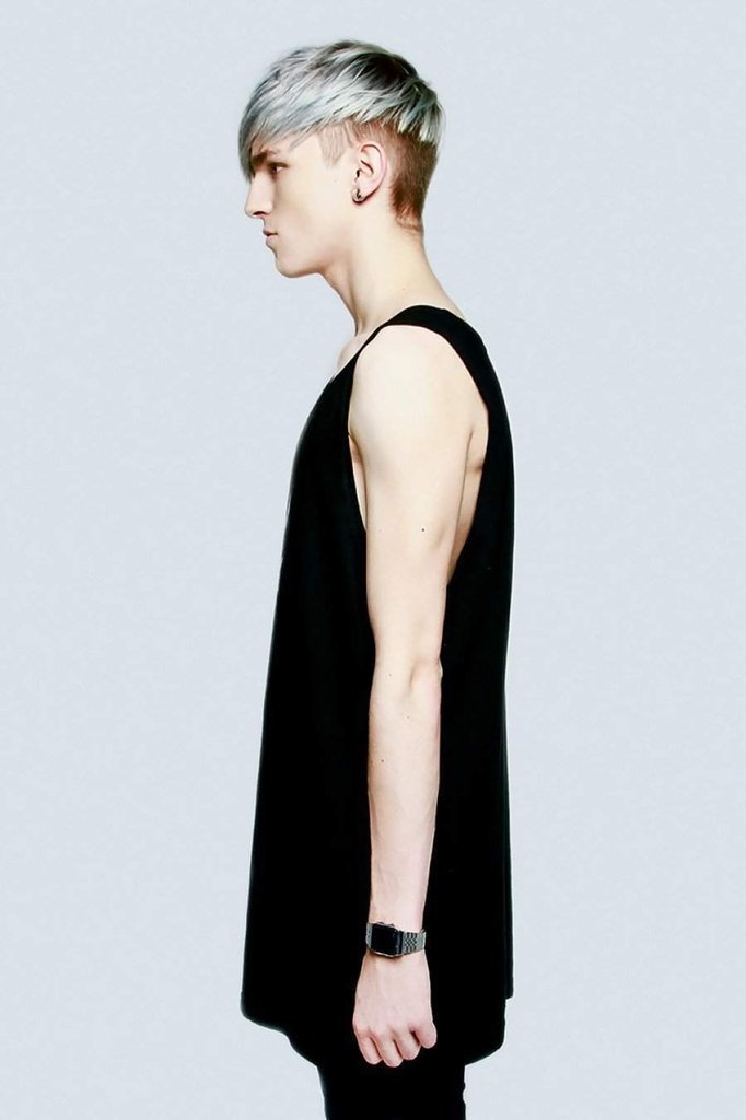 Plain Black Vest - Unisex-Long Clothing-Dark Fashion Clothing