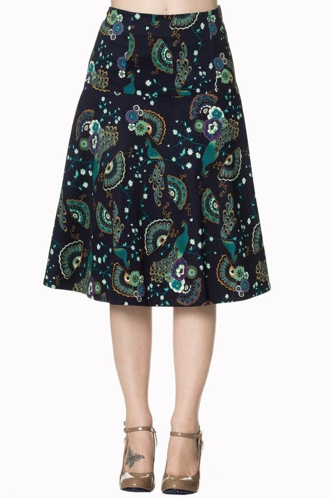 Proud Peacock Skirt-Banned-Dark Fashion Clothing