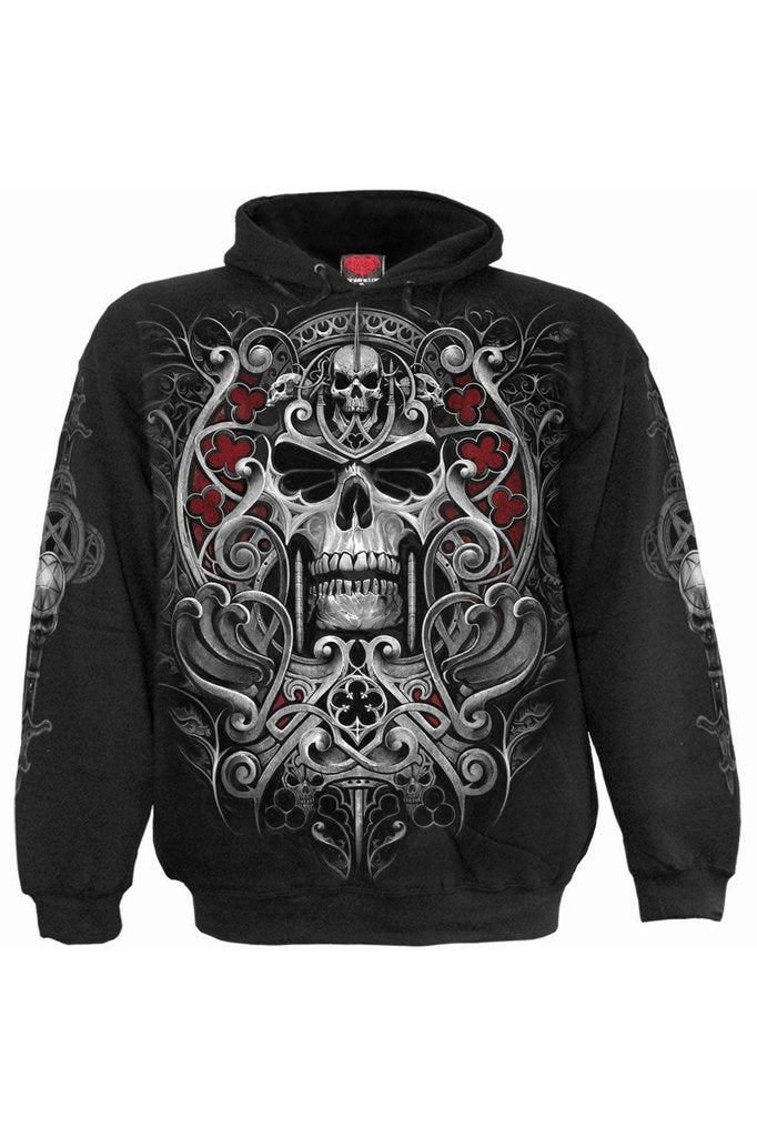 Reaper's Door - Hoody Black-Spiral-Dark Fashion Clothing
