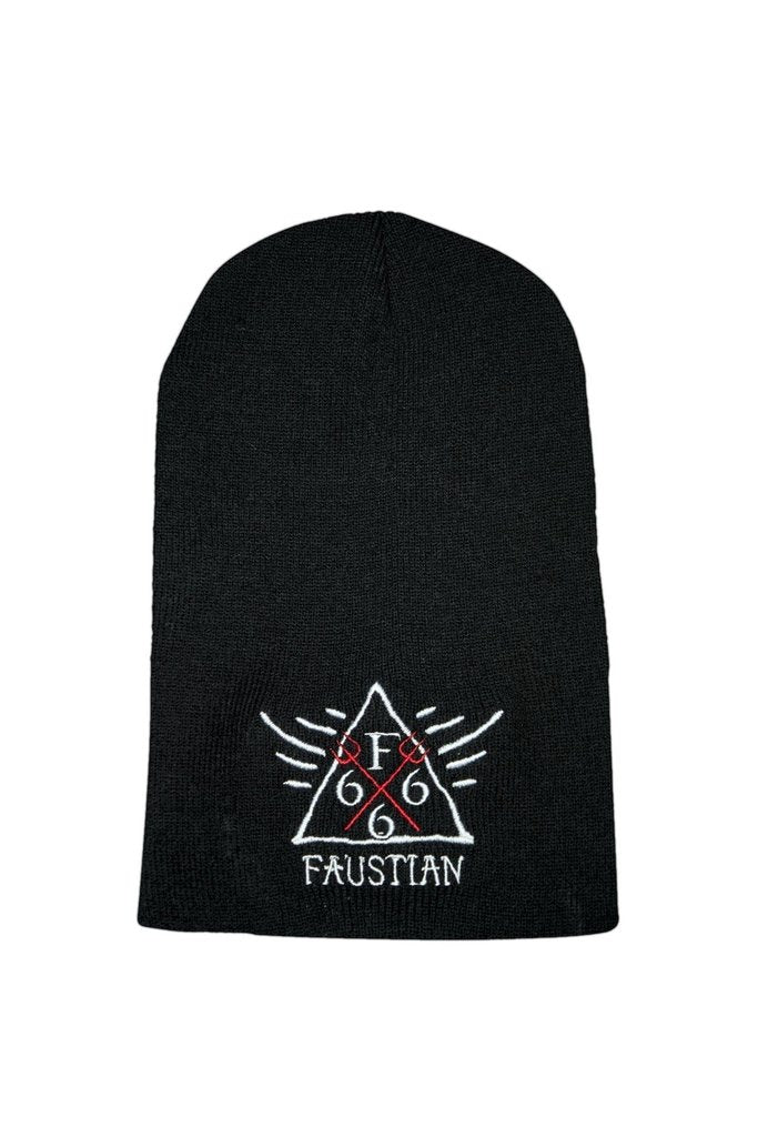 Red Pitchforks 666 Black Beanie - Lucky-Dr Faust-Dark Fashion Clothing