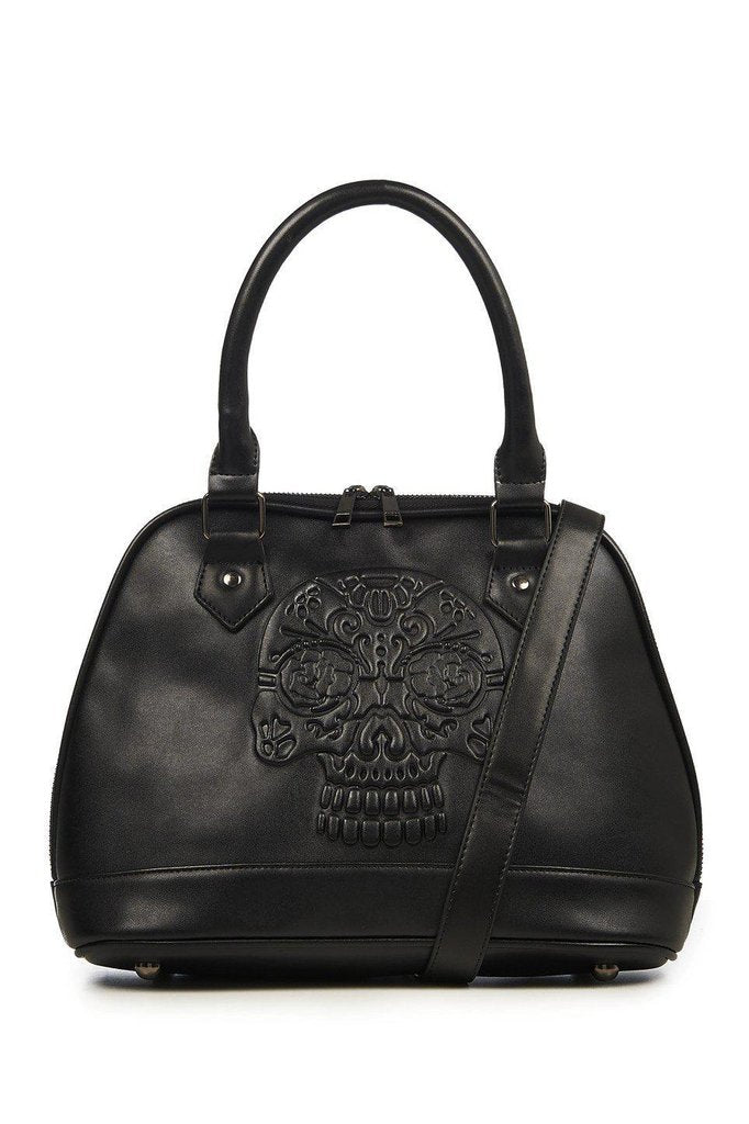 Rho Embossed Bag-Banned-Dark Fashion Clothing