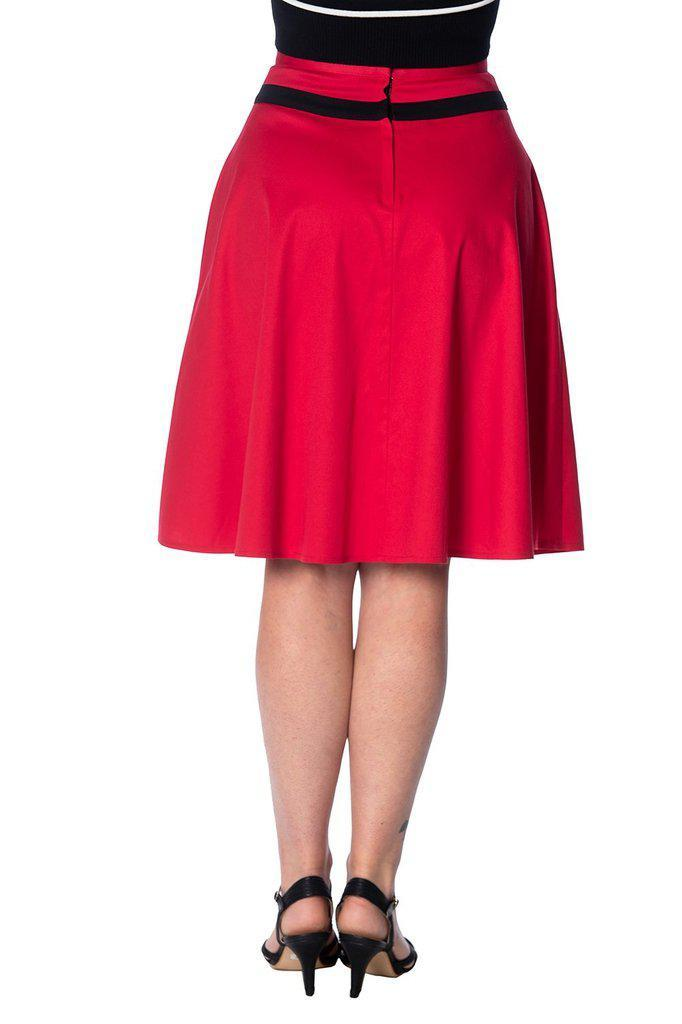 Rockin Red Skirt-Banned-Dark Fashion Clothing