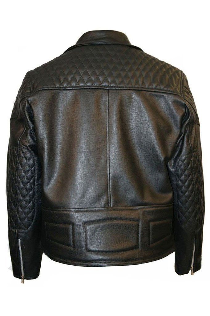 Rough Diamond Biker Jacket-Skintan Leather-Dark Fashion Clothing