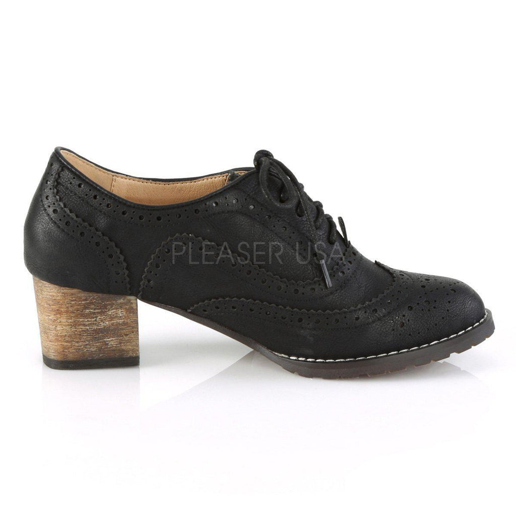 6981757ce17 Russell-34 Faux Leather Block Heel Spectator Wingtip Oxford Shoes-Pin Up  Couture-