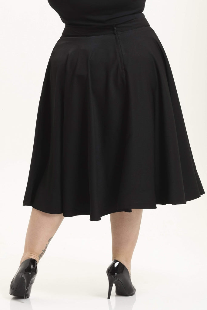 Sandy Full Circle Plus Size Skirt-Voodoo Vixen-Dark Fashion Clothing