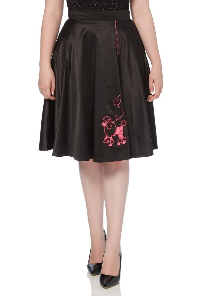 Sandy Poodle Swing Skirt - Voodoo Vixen-Dark Fashion Clothing