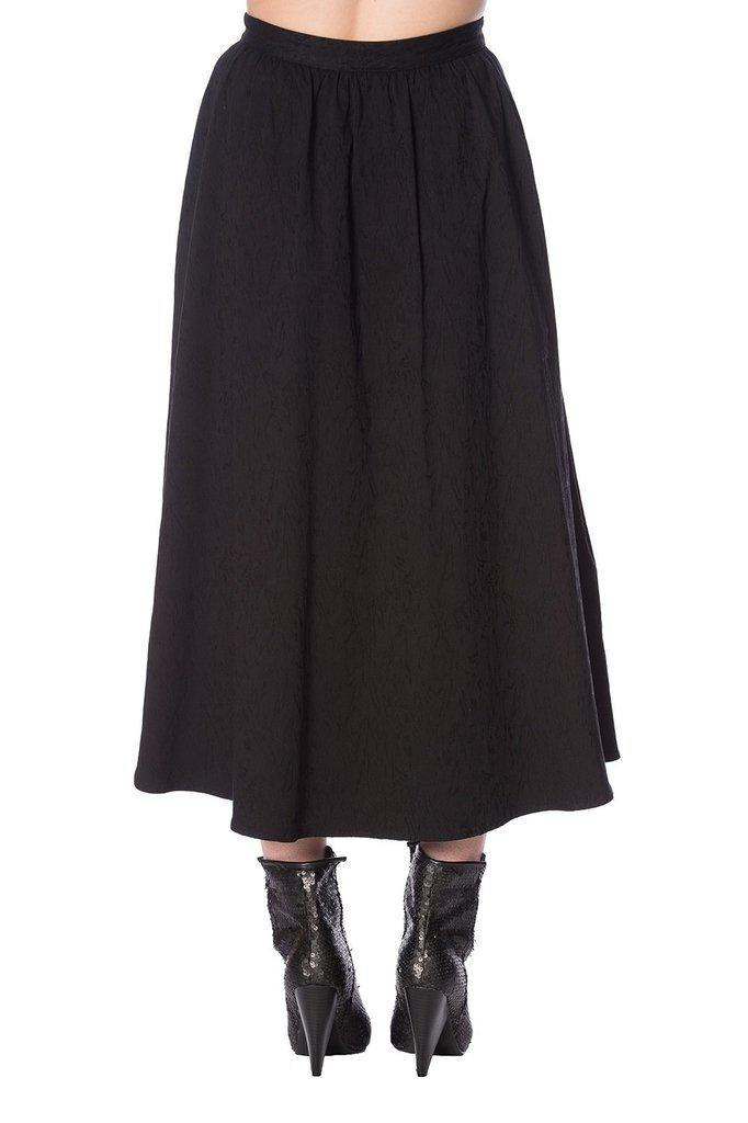 Scratch Midi Skirt-Banned-Dark Fashion Clothing