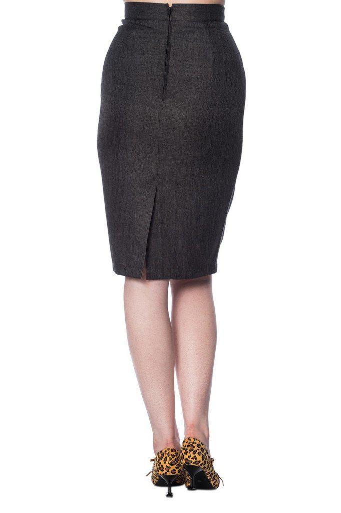 Secretary Pencil Skirt-Banned-Dark Fashion Clothing