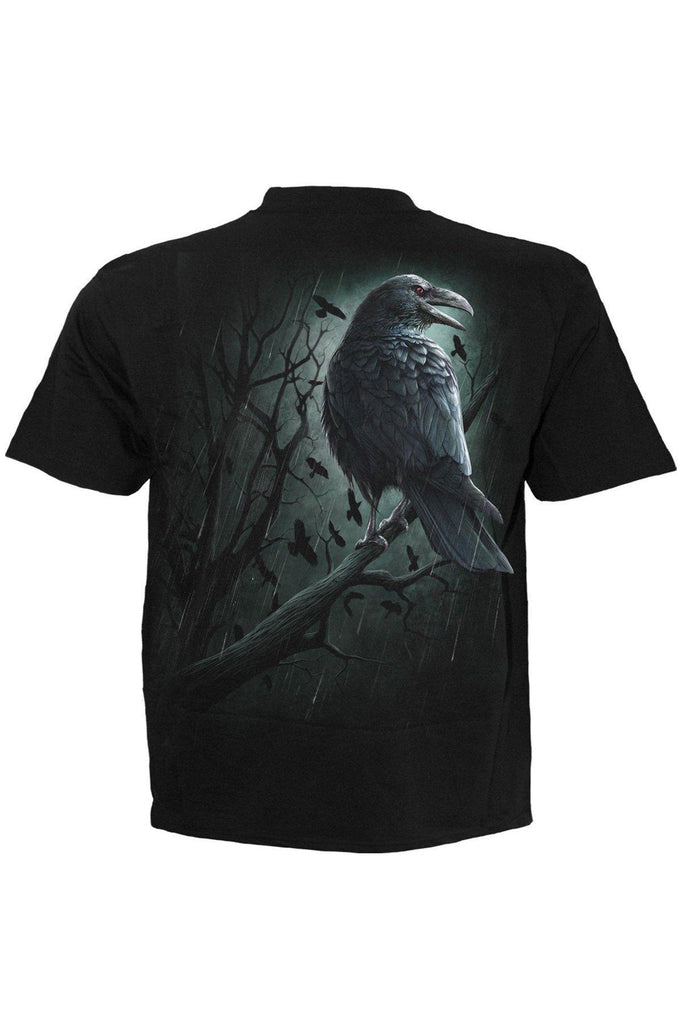 Shadow Raven - T-Shirt Black-Spiral-Dark Fashion Clothing