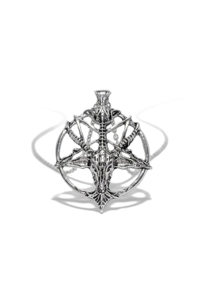 Sigil of Baphomet PentaRam Pendant and Necklace - Teagan-Dr Faust-Dark Fashion Clothing