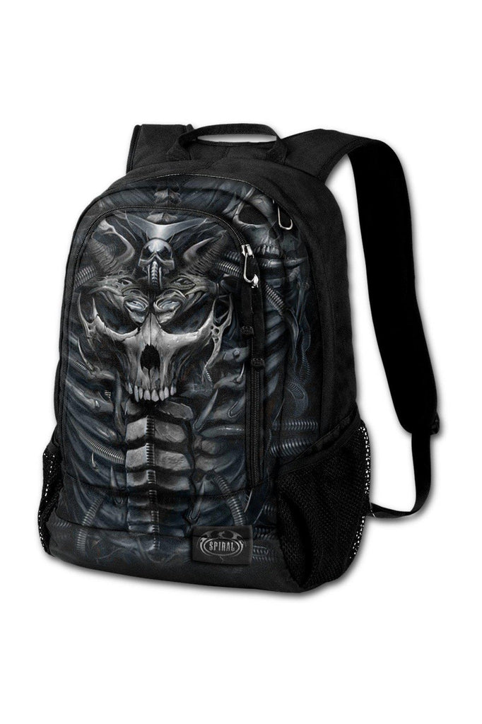 Skull Armour - Back Pack - With Laptop Pocket-Spiral-Dark Fashion Clothing