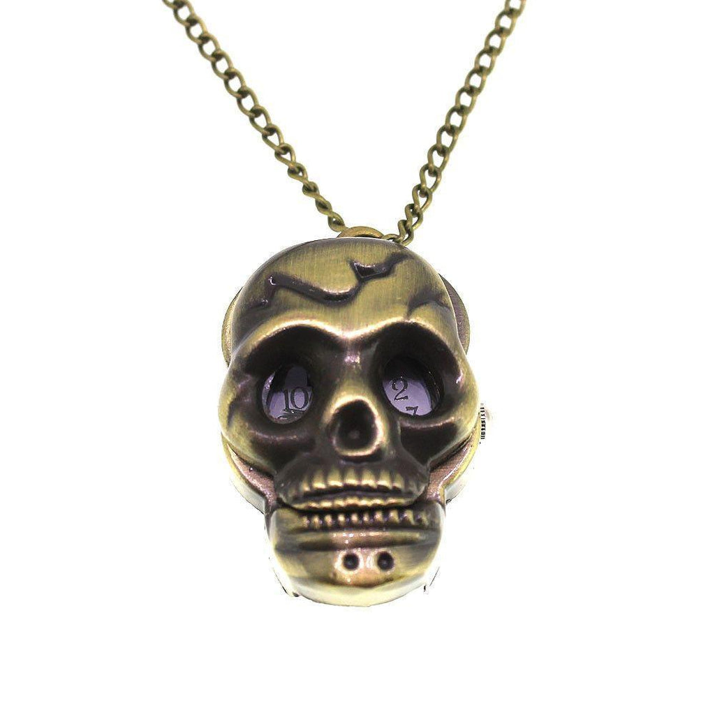 Skull Pocket Watch-Badboy-Dark Fashion Clothing