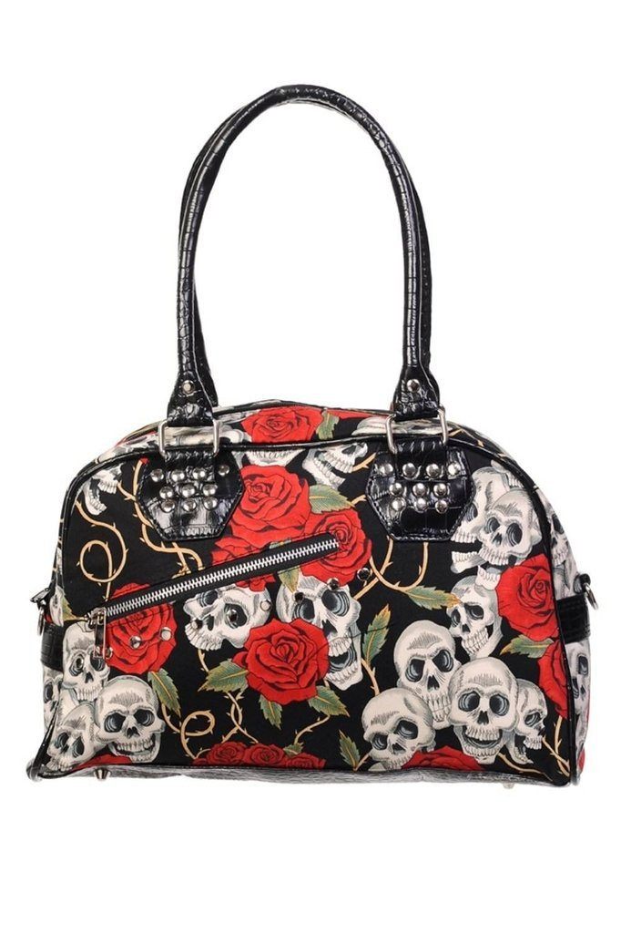 Skull Roses Handbag-Banned-Dark Fashion Clothing