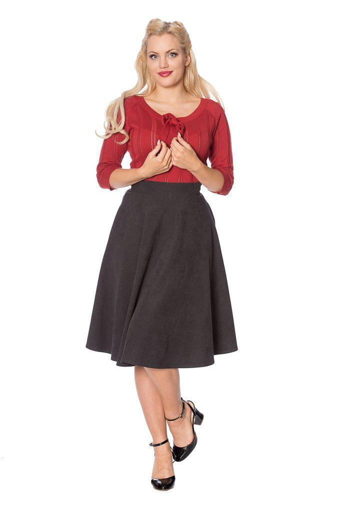 Sophisticated Lady Swing Skirt-Banned-Dark Fashion Clothing