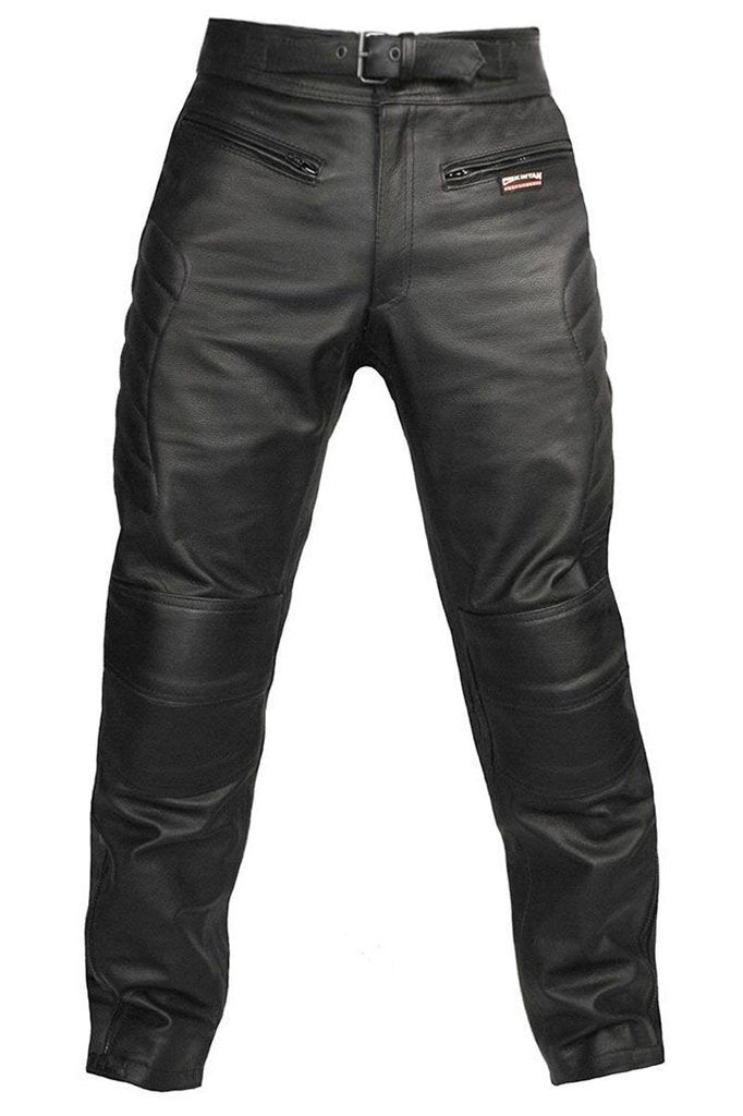 Spa Motorbike Trousers - CE Armoured-Skintan Leather-Dark Fashion Clothing