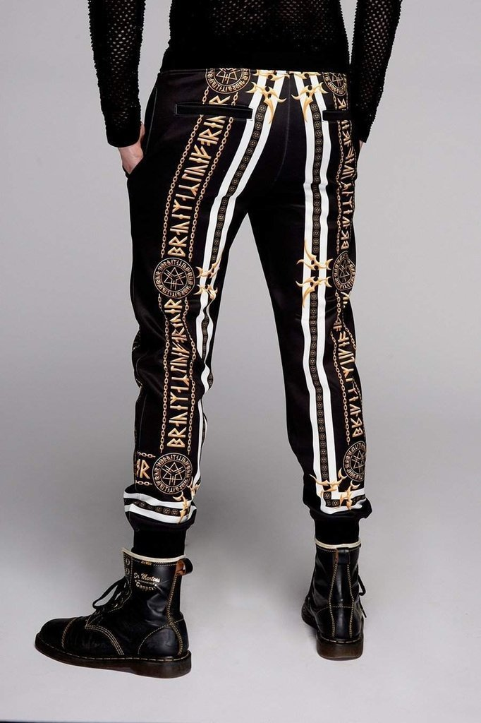 Stay Gold Joggers Slim Fit - Unisex-Long Clothing-Dark Fashion Clothing