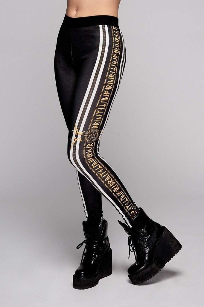 Stay Gold Leggings-Long Clothing-Dark Fashion Clothing