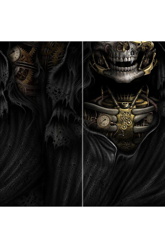 Steam Punk Reaper - Multifunctional Face Wraps-Spiral-Dark Fashion Clothing