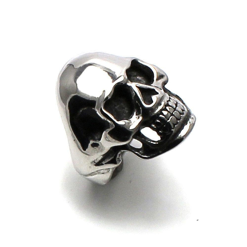 Substantial and Heavy Steel Skull Ring-Badboy-Dark Fashion Clothing