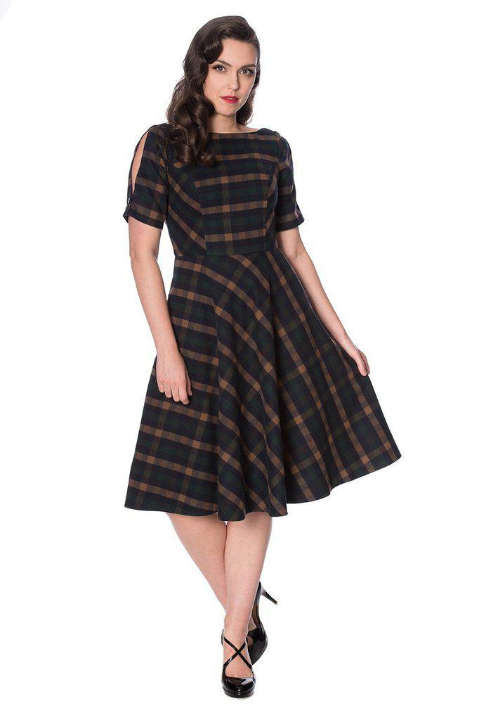 Sweet Daisy Fit And Flare Dress-Banned-Dark Fashion Clothing