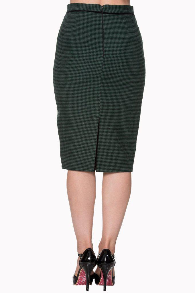 Swept Off Her Feet Plus Size Pencil Skirt-Banned-Dark Fashion Clothing