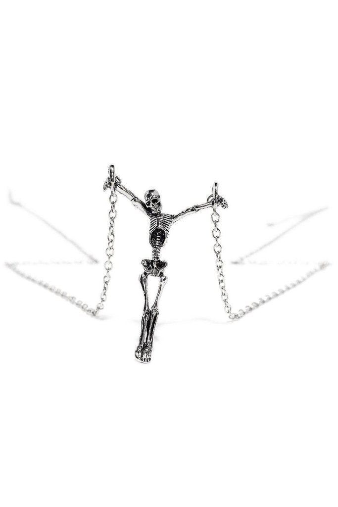 The Crucified Skeleton Pendant and Necklace - Skyla-Dr Faust-Dark Fashion Clothing