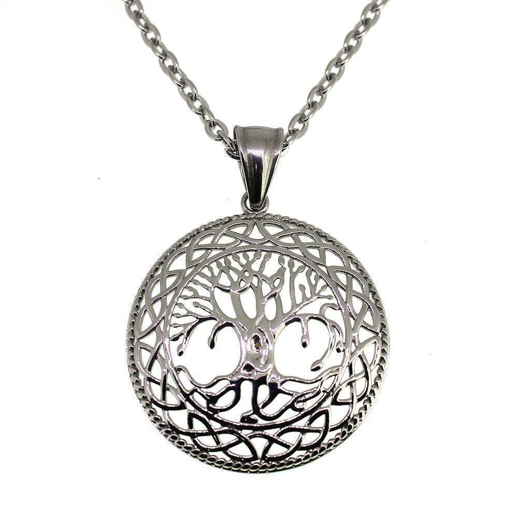 Tree Of Life Pendant - Stainless Steel-Badboy-Dark Fashion Clothing