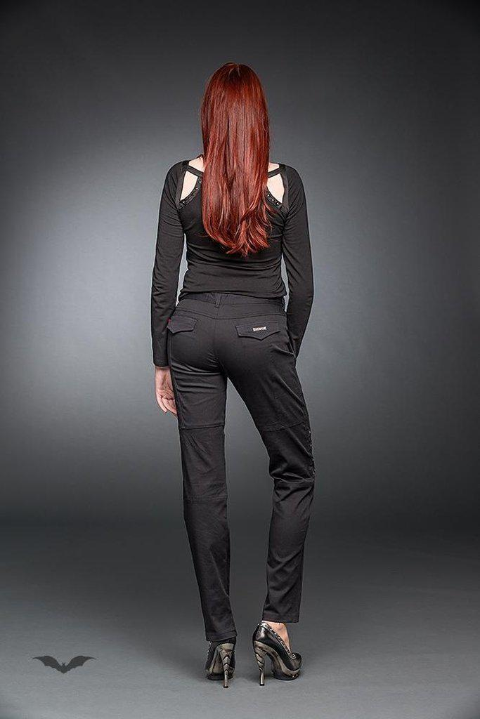 Trousers With Studs-Queen of Darkness-Dark Fashion Clothing