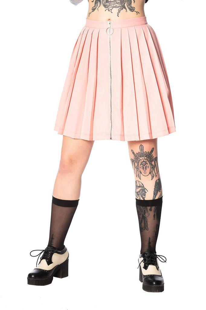 Urban Vamp Pleats Skirt-Banned-Dark Fashion Clothing