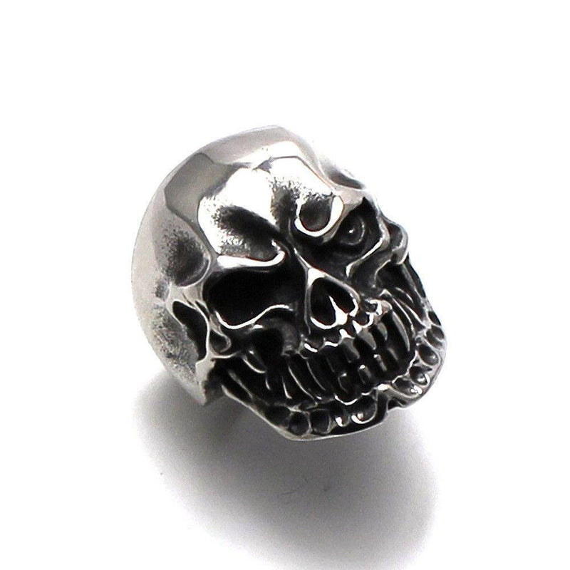 Vampire Skull Ring – Steel-Badboy-Dark Fashion Clothing