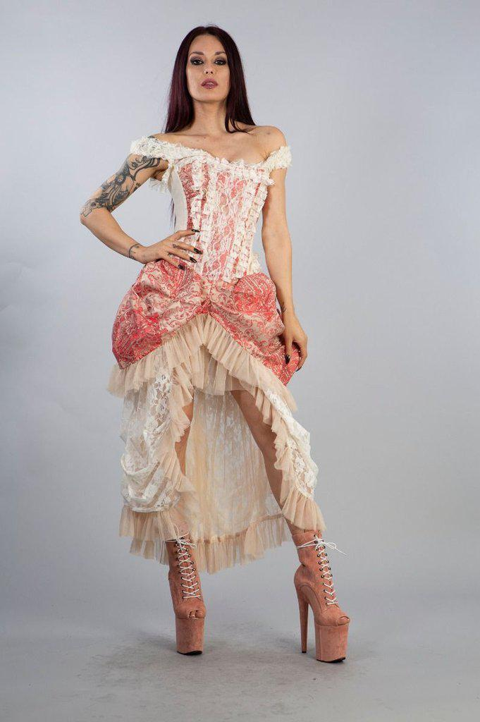Versailles Corset Dress In Jacquard-Burleska-Dark Fashion Clothing