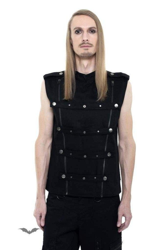 Vest Decorated With Buttons-Queen of Darkness-Dark Fashion Clothing