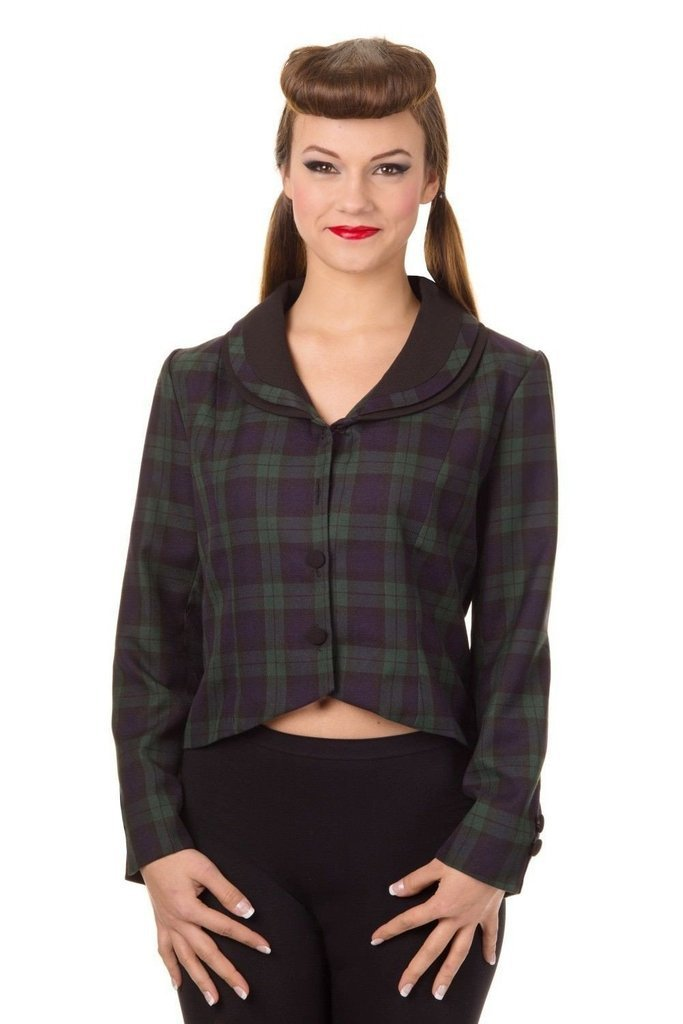 Vintage Tartan Jacket-Banned-Dark Fashion Clothing