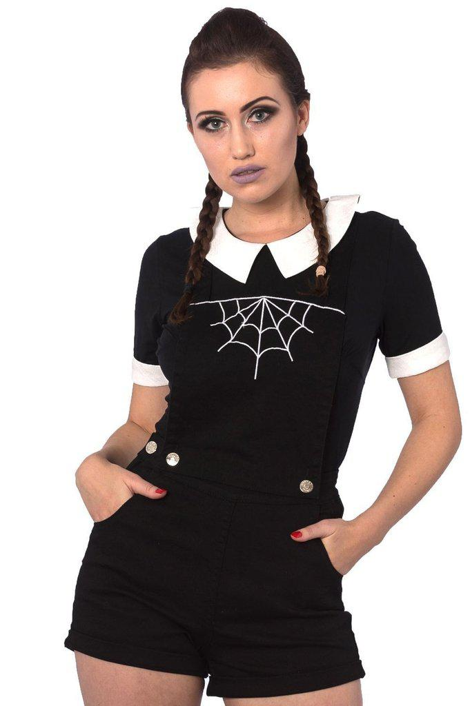 Webb Dungaree-Banned-Dark Fashion Clothing