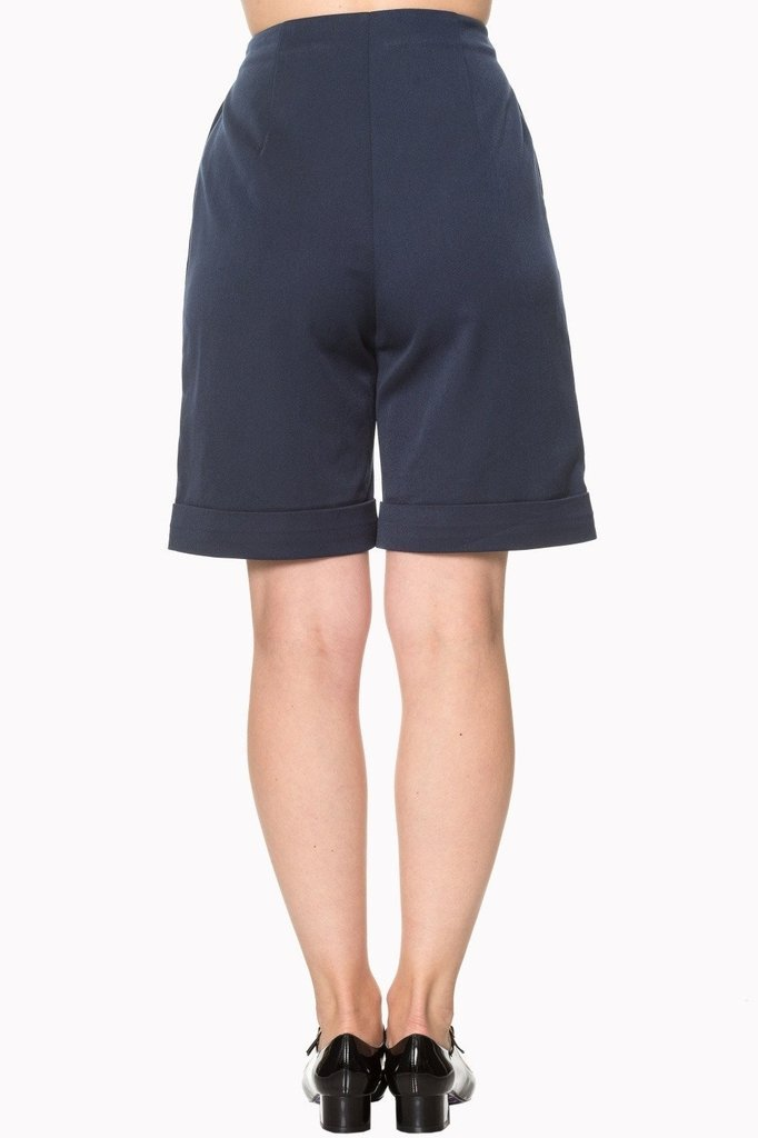 Weekender Trouser Shorts-Banned-Dark Fashion Clothing
