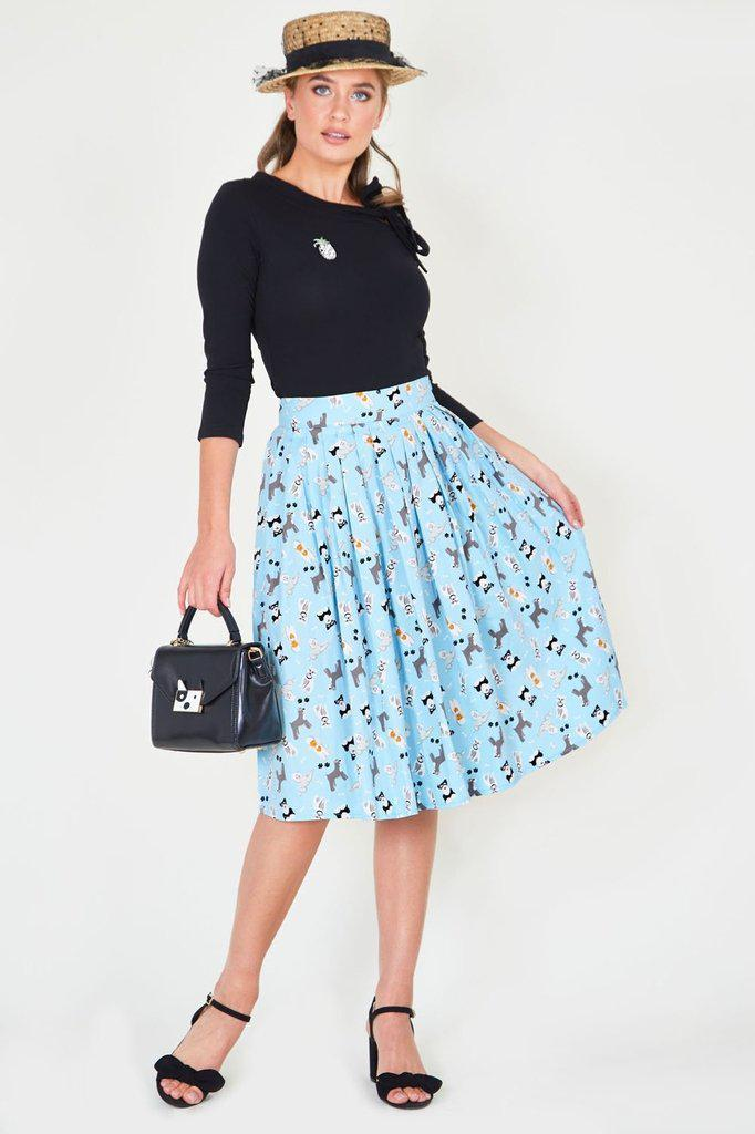 Wendy Dog Print Skirt - Voodoo Vixen-Dark Fashion Clothing