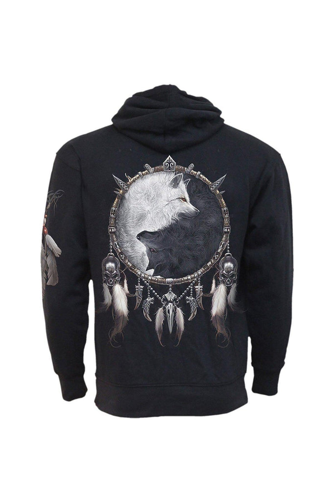 Wolf Chi - Side Pocket Hoody Black-Spiral-Dark Fashion Clothing