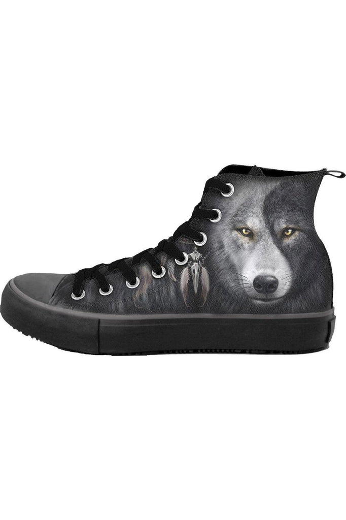 Wolf Chi - Sneakers - Men'S High Top Laceup-Spiral-Dark Fashion Clothing