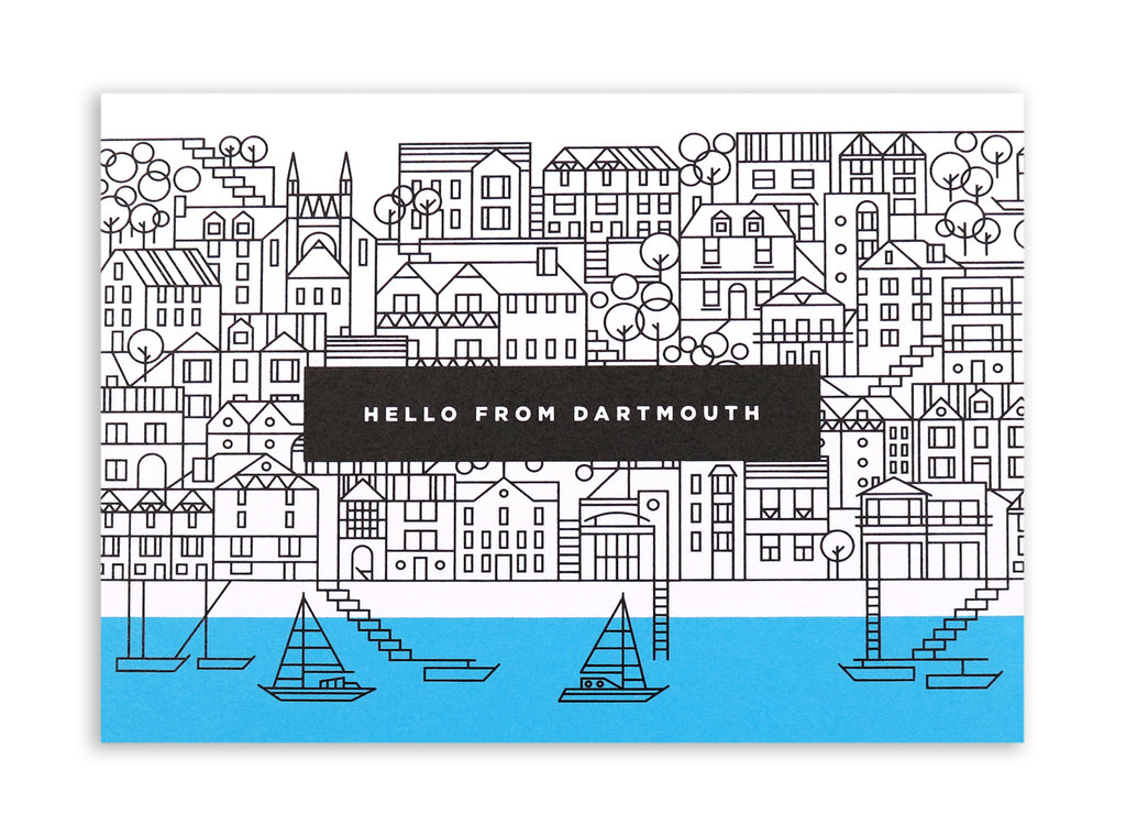 BERT & BUOY POSTCARD HELLO DARTMOUTH