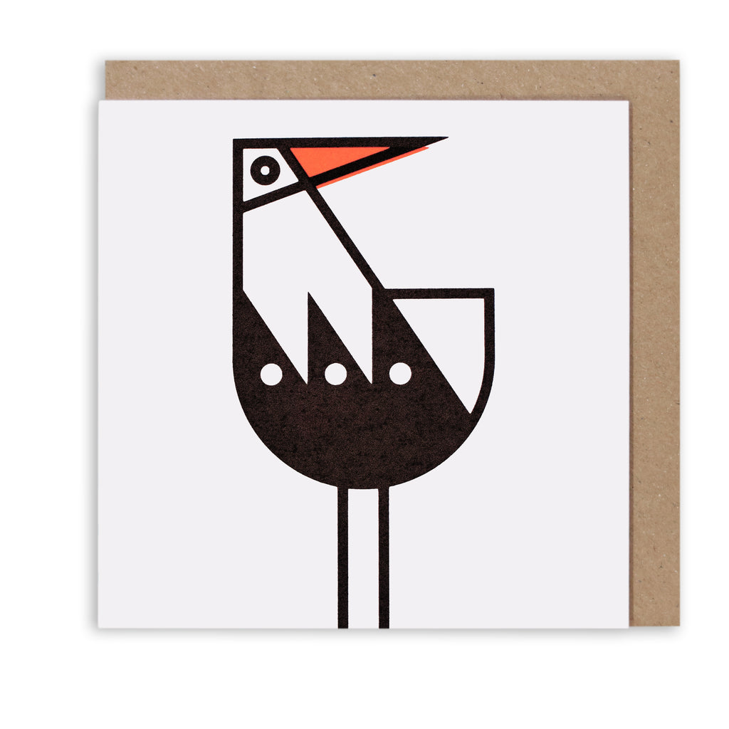 BERT & BUOY GREETING CARD OYSTERCATCHER