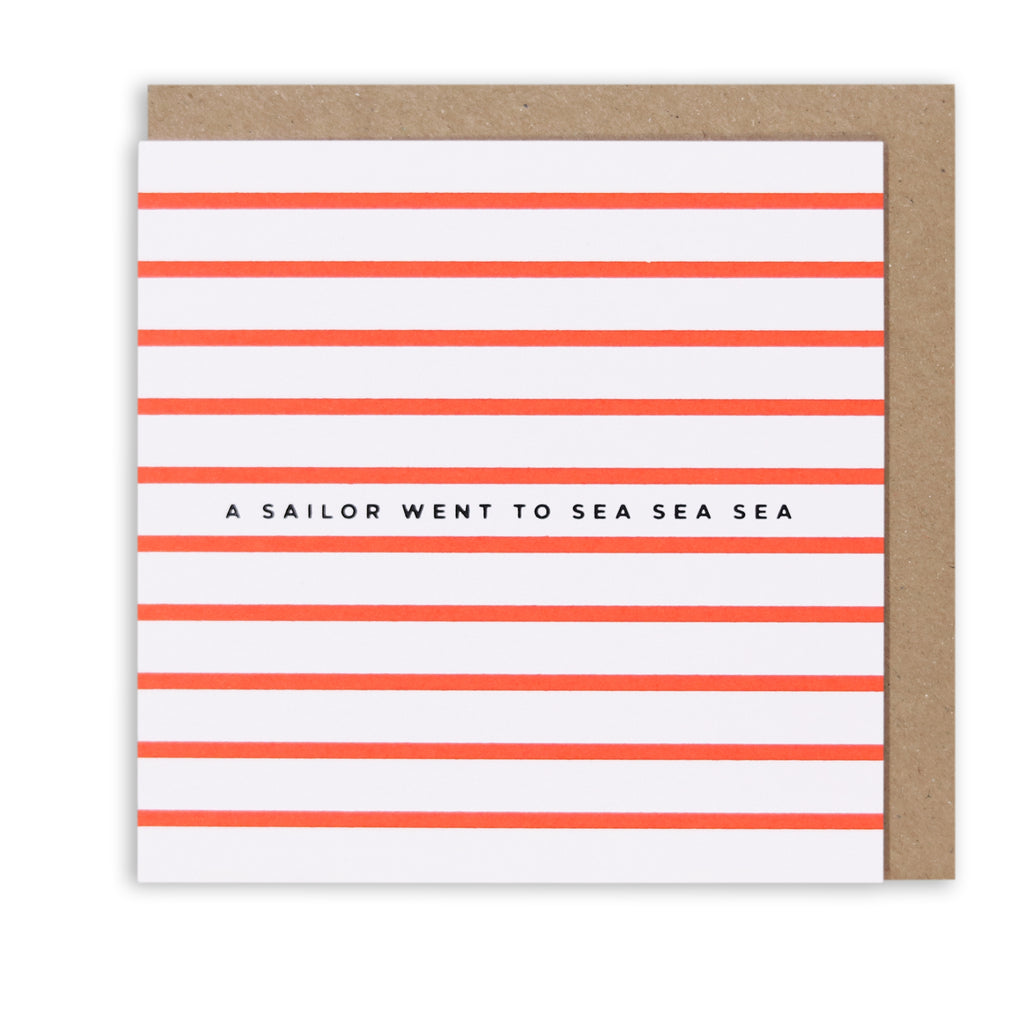 NAUTICAL STRIPES SAILOR GREETING CARD