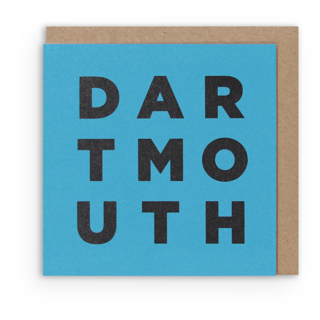 DARTMOUTH BLUE GREETING CARD